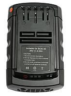 Аккумулятор PowerPlant для шуруповертов и электроинструментов BOSCH GD-BOS-36 36V 4Ah Li-Ion, фото 1