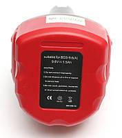 Аккумулятор PowerPlant для шуруповертов и электроинструментов BOSCH GD-BOS-9.6(A) 9.6V 1.5Ah NICD, фото 1