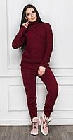 Теплый спортивный костюм бордовый