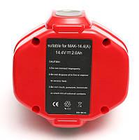 Аккумулятор PowerPlant для шуруповертов и электроинструментов MAKITA GD-MAK-14.4(A) 14.4V 2Ah NICD, фото 1