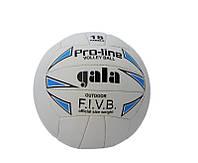 Мяч волейбольный качественный Gala White/blue/black