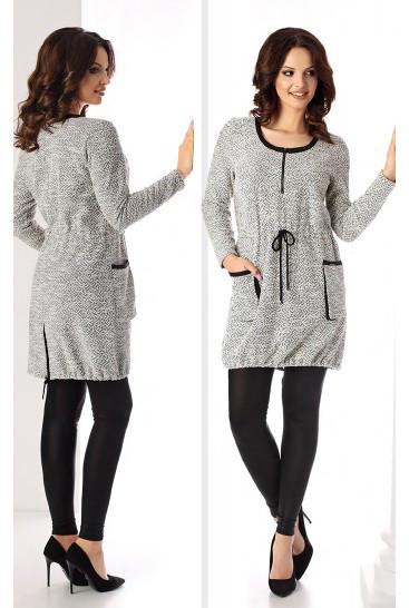 2d9ee78d304 Купить Женская стильная туника серого цвета. Модель Rosa Top-Bis ...