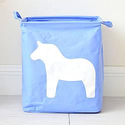 Корзина для игрушек, белья, хранения Лошадь, голубой Berni Home