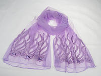 Шарф вискоза SH5-16 водоросли фиолетовый