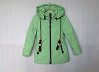 Демисезонная куртка для девочки 104-128 зеленая