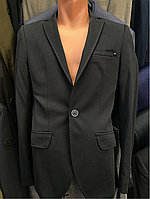 Пиджак молодежный темно-синий приталенный