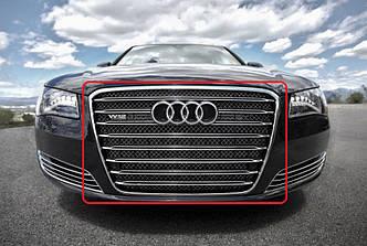 Решетка тюнинг Audi A8 D4 стиль W12 (без Night Vision)
