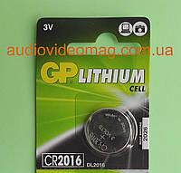 Батарейка литиевая GP CR2016 Lithium 3V