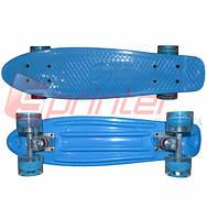 Скейт Penny.LED колеса.Синий 2111