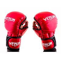 Перчатки для боев красные Venum MMA, 415 Flex, L,XL  L