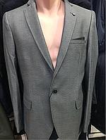 Пиджак серый на одну пуговицу