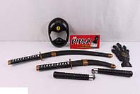 Набор ниндзя - меч, кинжал, нунчаки, маска, перчатка