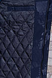 Чоловіча демісезонна куртка (подовжена), темно-синього кольору, фото 6