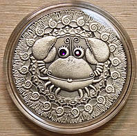 Серебряная монета Белоруссии 20 рублей Рак  2009 г.