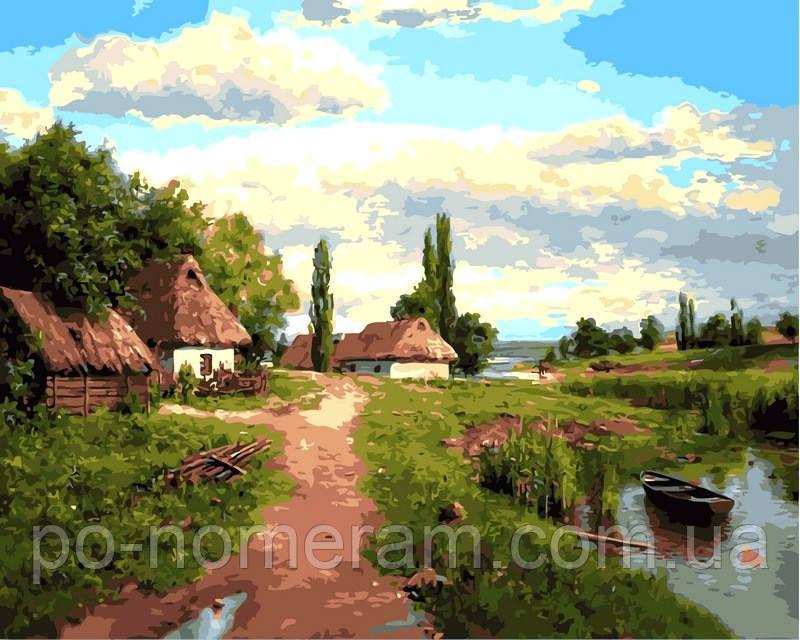 Раскраска по номерам DIY Babylon Окраина (VP349) 40 х 50 ...