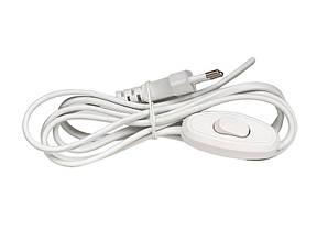Выключатель для бра с кабелем 2 м белый