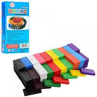 Деревянная игра Домино Деревянное Разноцветное, MD 1165, 006616