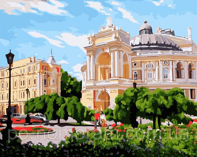 Картина-раскраска DIY Babylon Одесса Оперный театр летом ...