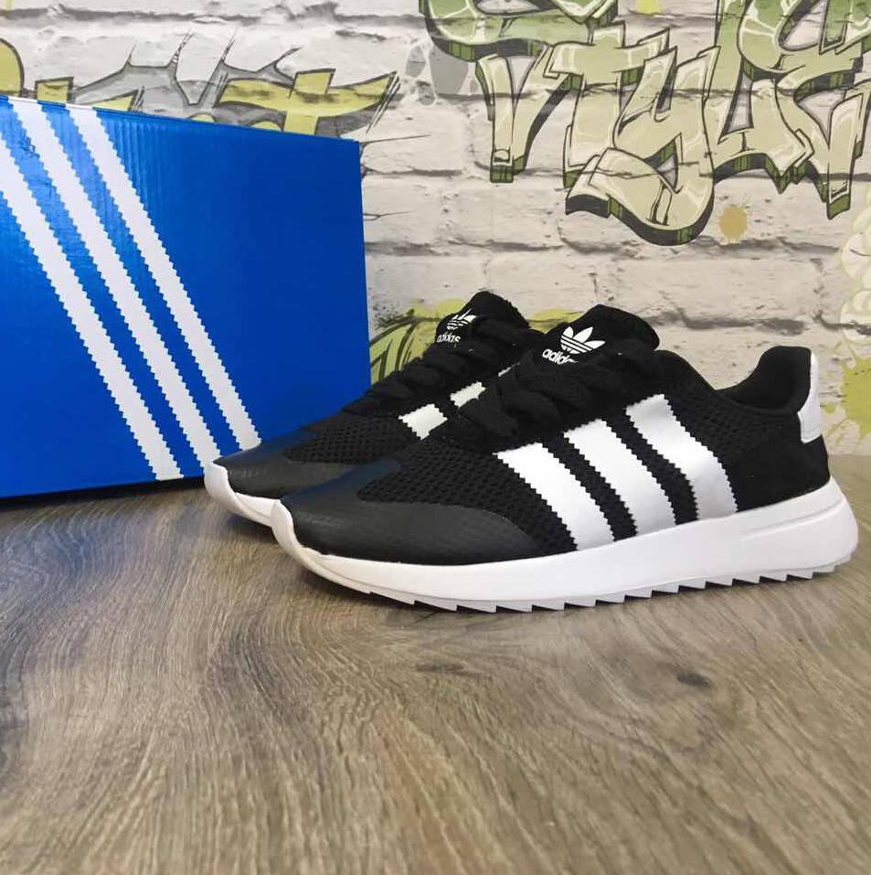 Adidas Flashback black white (реплика)