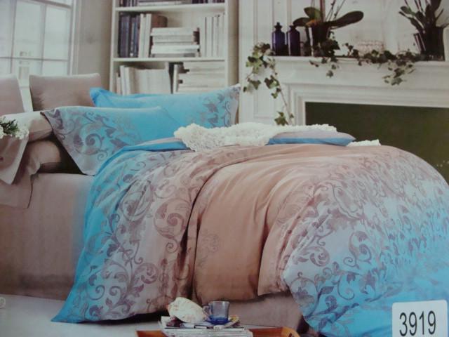 Сатиновое постельное белье полуторное ELWAY 3919