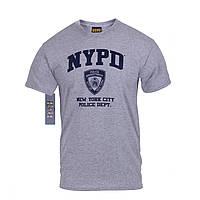 Футболка полиции   ''NYPD'' серая официальная США