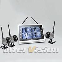 Комплект беспроводного видеонаблюдения KIT-FHD123 на три камеры