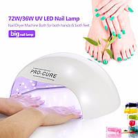 72W / 36W Большая UV LED лампа для ногтей , фото 1