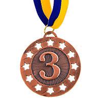 Медаль наградная с лентой d=65 мм Бронза