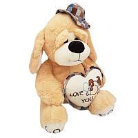 Мягкая игрушка Собачка с сердцем 513340 музыкальный