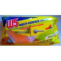 Универсальные влажные салфетки для уборки всего дома. Свежесть лемона W5 lemon 80 шт