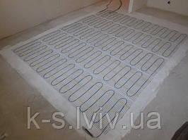 Тепла підлога в плиточний клей, під плитку, з використанням тепловідбиваючої фарби ТЕРМОСИЛАТ (1мм ~ 3-4 cм пінополістірола)