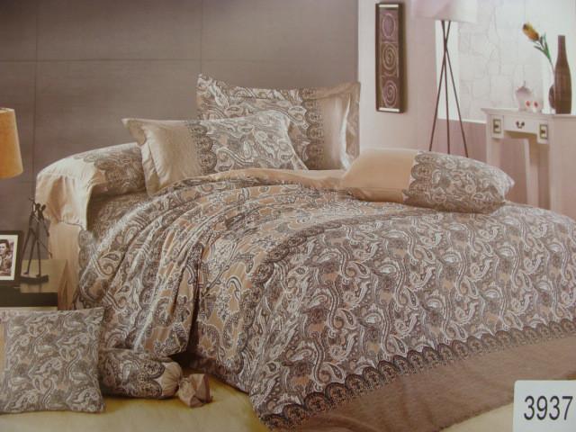 Сатиновое постельное белье полуторное ELWAY 3937