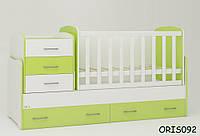 Кровать-трансформер Afina Oris-mebel Бело-зеленый ORIS092