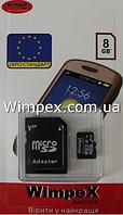 Карта Флэш-Памяти WIMPEX microSD 8GB, фото 1