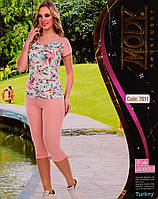 Женский комплект футболка+капри Турция. MODY 7011. Размер 44-46.