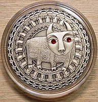 Серебряная монета Белоруссии 20 рублей Телец 2009 г.