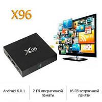 СМАРТ ТВ (smart tv box) приставка X96 mini (2Gb/16Gb) 4-ядерная на Android 6.0.1, фото 1