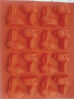 Форма силиконовая Зайцы пасхальная