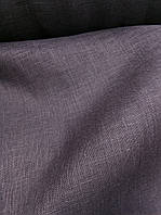 """Льняная """"марля"""" для декорирования интерьеров, пошива гардин и штор """"Вымытый черный"""""""