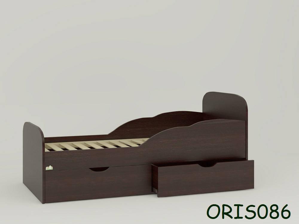 Кровать для ребенка от 2-х лет Selena Oris-mebel Сосна лоредо темный (венге) ORIS086