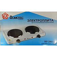 Электроплита дисковая Domotec HP-200 A-1, плита 2-конфорочная электрическая, фото 1