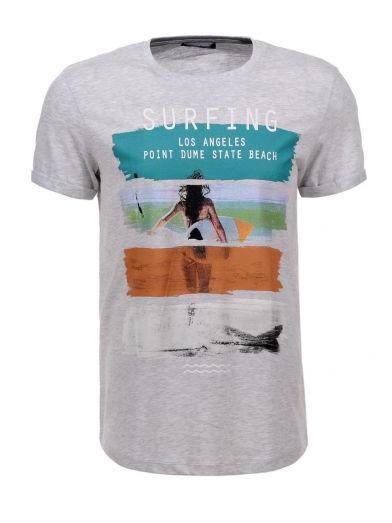 Мужская футболка  GLO-STORY AS18 MPO-5479 Серая