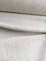 """Льняная грубая плотная ткань с рубчиком """"Саржа"""" (шир. 150 см), фото 1"""