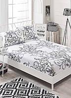 Простынь на резинке с наволочками Eponj Home B&W - Mare beyaz белый 160*200