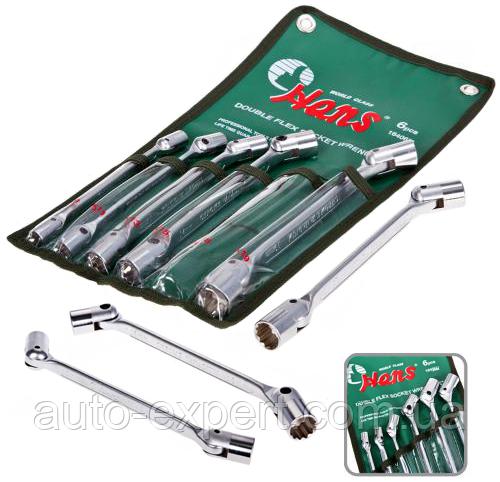 Набор ключей карданных HANS 8-19 мм, 6 предметов (лента)(16406М)