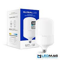 Светодиодная мощная LED лампа GLOBAL HW 50Вт 6500K E27 промышленная