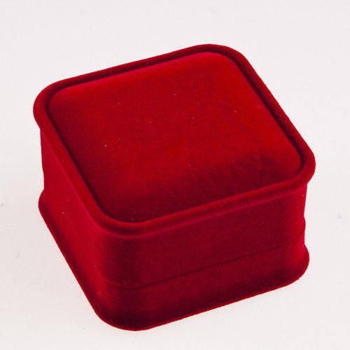 Футляр красный для кольца 53940 размер 45*45 мм
