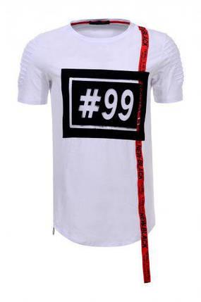 Мужская футболка  GLO-STORY AS18 MPO-5740 White белая, фото 2
