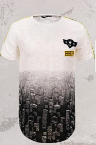 Мужская футболка  GLO-STORY AS18 MPO-5746 White белая