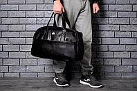 Кожаная спортивная сумка NIKE полоса
